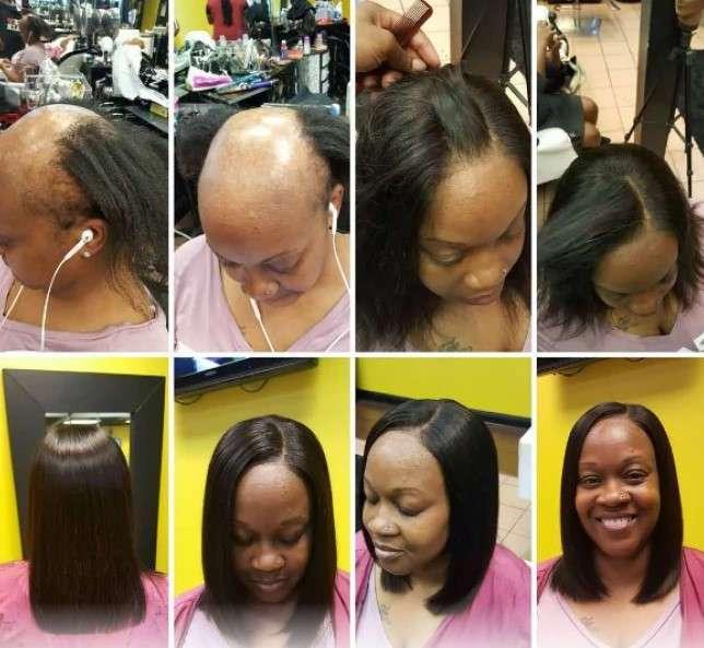 Только посмотрите, что этот талантливый парикмахер сделал с лысой женщиной!