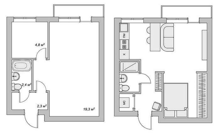 Квартира, в которой на 29 метрах уместилось все и даже больше. В это трудно поверить!