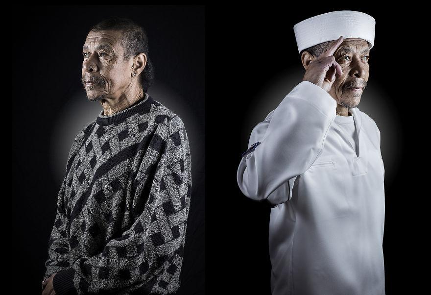 Принц и нищий: фотограф сопоставляет снимки бездомных людей с их мечтами