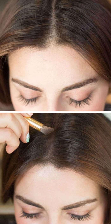 Как сделать пробор волос гуще 165