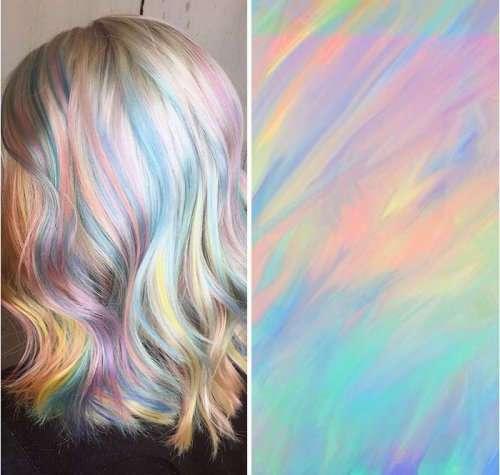 Самый горячий тренд 2017 года: голографические волосы (17 фото)