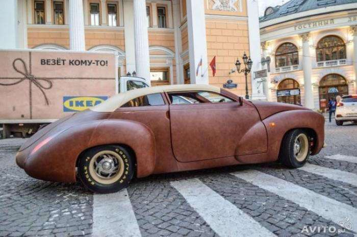 Продается автомобиль, покрытый кожей канадского бизона (10 фото)