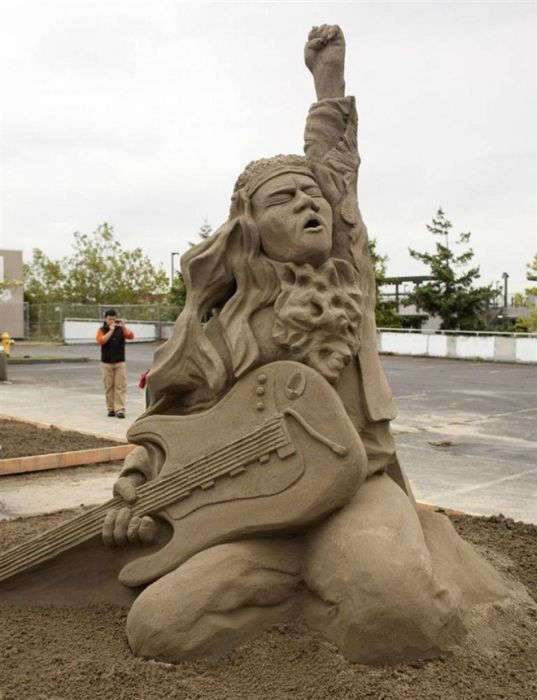 Красивейшие скульптуры из песка (61 фото)