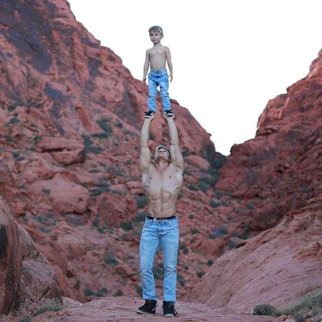 Самый популярный отец-одиночка -Инстаграма- (25 фото)