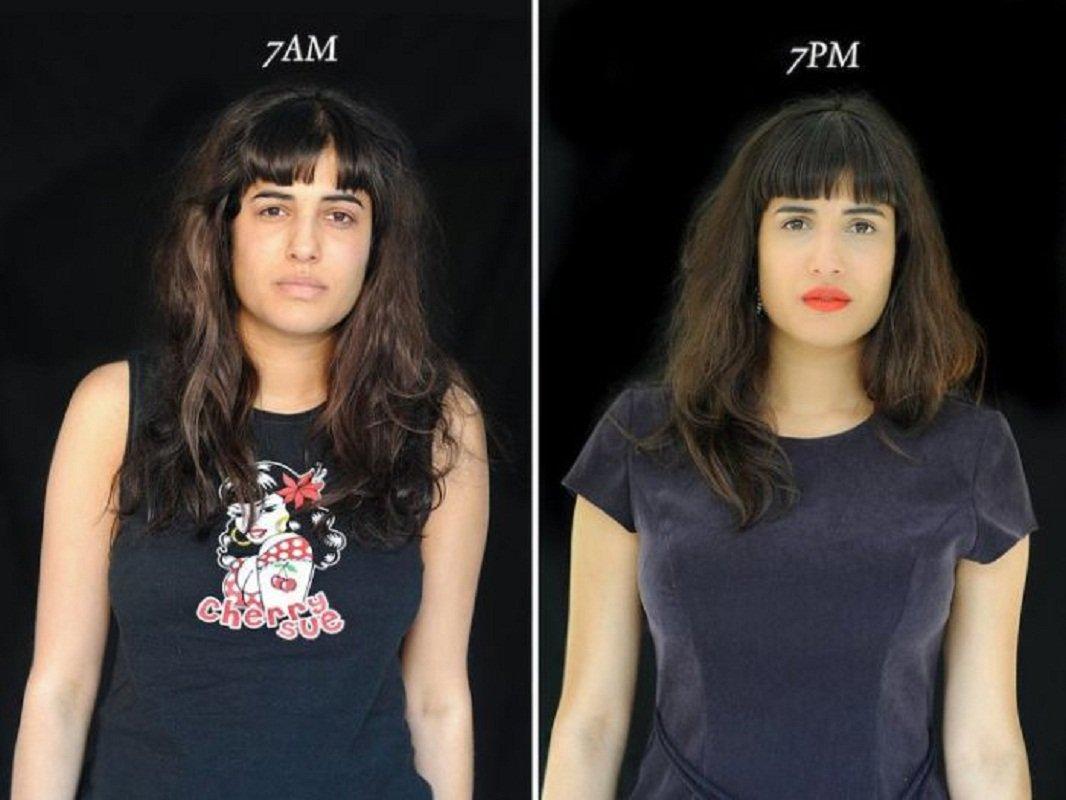 10 фотографий о том, как люди выглядят в 7 утра и в 7 вечера
