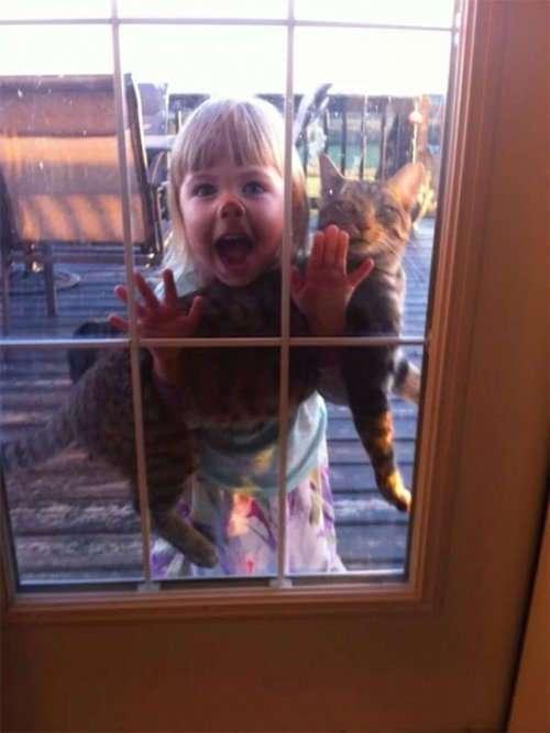 Почему домашних питомцев нельзя оставлять с детьми (35 фото)