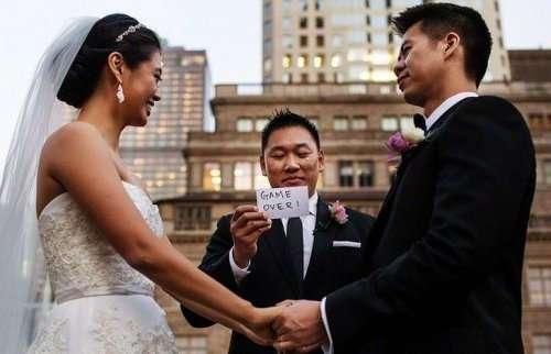 Прикольные свадебные фотографии (20 шт)