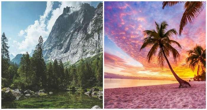 Горы или пляж? Ваш выбор может многое рассказать о вашей личности!