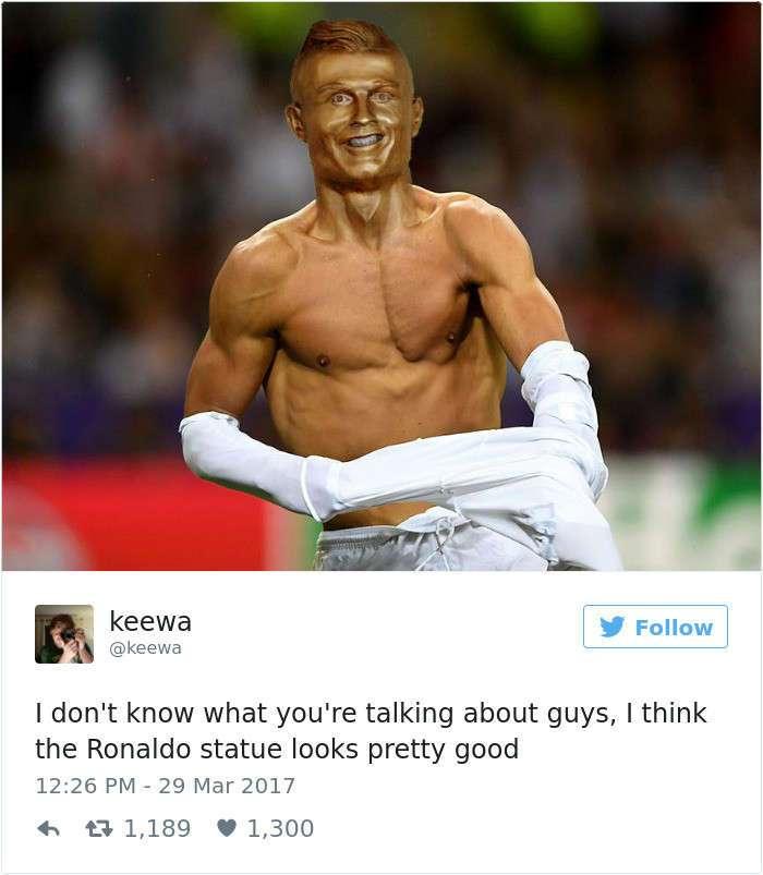 Роналду обзавелся бюстом