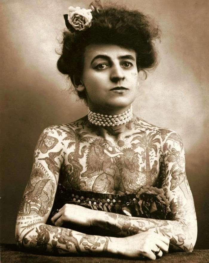 Жизнь первой королевы татуировок