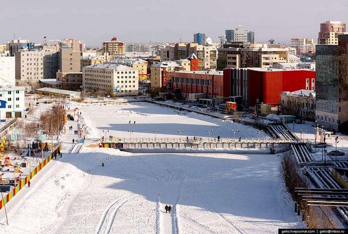 Один из самых -холодных- городов Земли с высоты