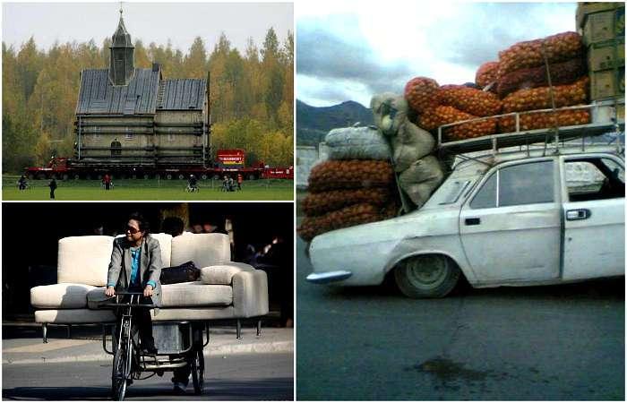 17 умопомрачительных снимков, демонстрирующих настоящие чудеса перевозки грузов и не только