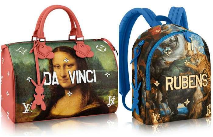 На грани китча: ка выглядит «классическая» коллекция сумок от Louis Vuitton и Джеффа Кунса