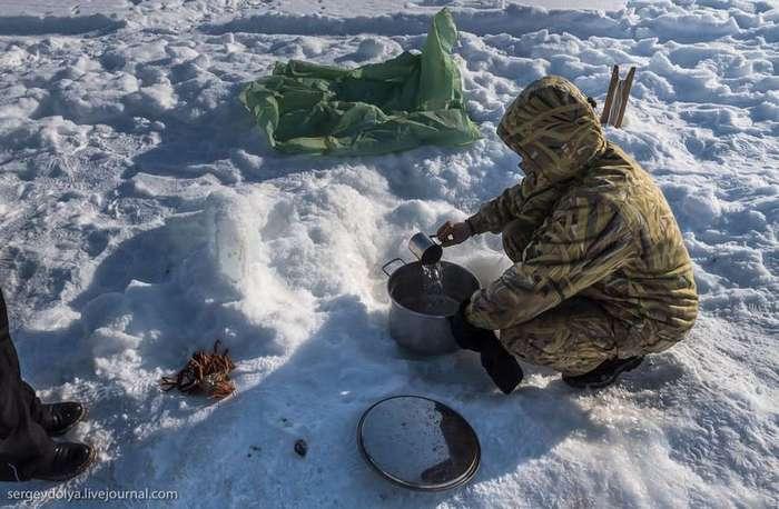 История о том, как ловят крабов на Чукотке (34 фото)
