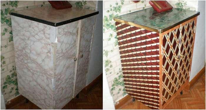 Не торопитесь выбрасывать старую советскую мебель! Вот как круто можно ее переделать