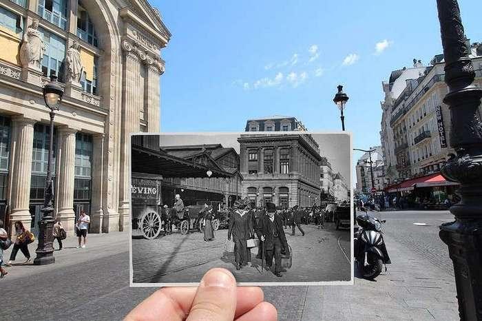 Художник Жюльен Кнез показал как изменился Париж за 100 лет