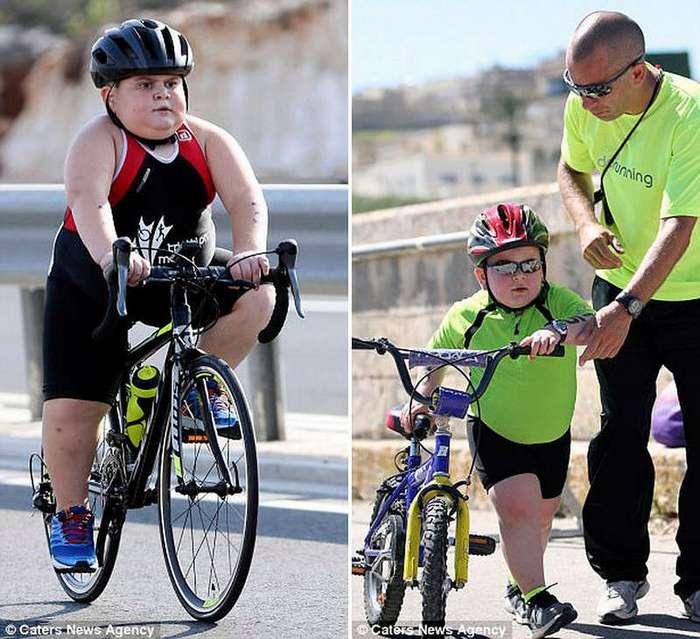 Чтобы выжить, 8-летний парнишка должен бежать триатлон