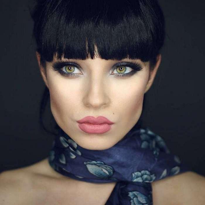 Как макияж меняет внешность человека.