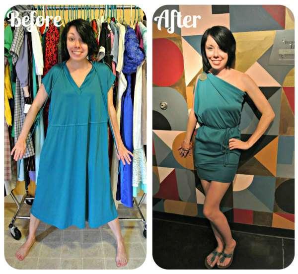 Стильные платья, переделанные из вещей, купленных в секонд-хенде.