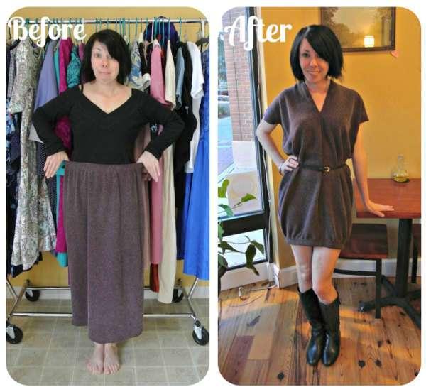 Переделка старых платьев в модные