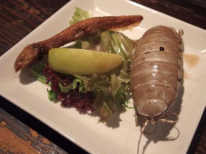 Необычное мясо в японском ресторане