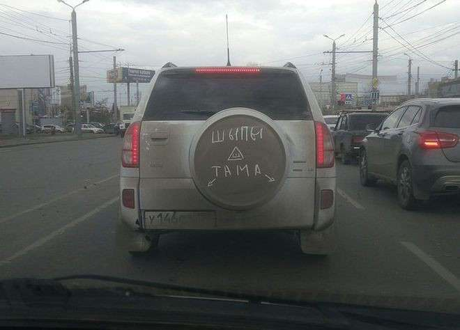 Народный креатив с наклейкой -Шипы-