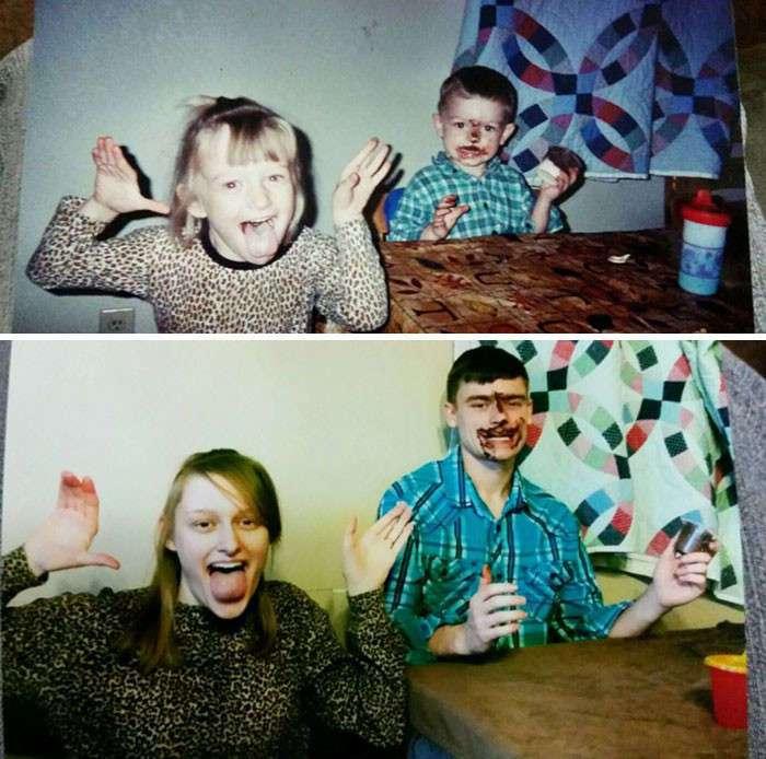 Креативное воссоздание детских фотографий: из прошлого в настоящее