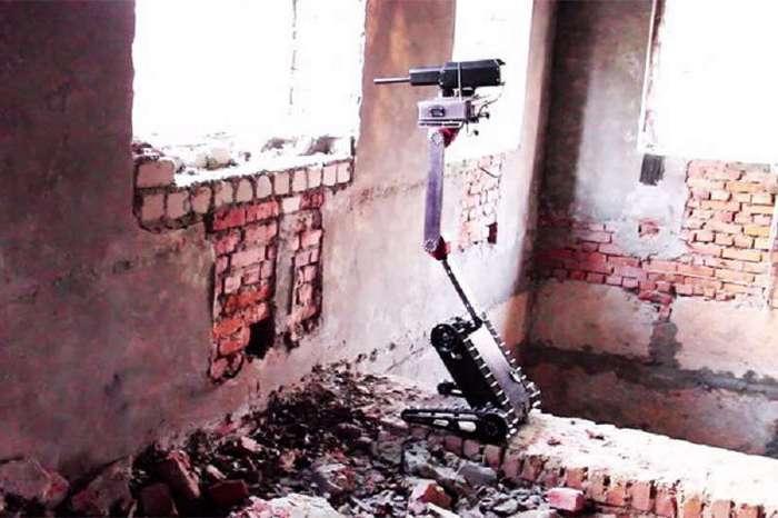 В России испытали помещающегося в рюкзак боевого робота