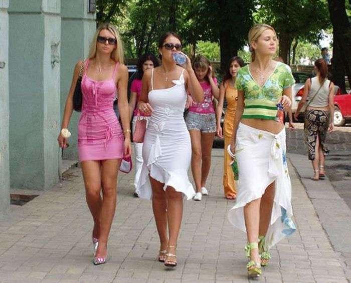 Busty women in revealing clothing
