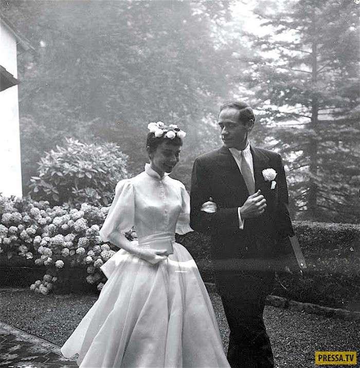 Ретро-кадры: свадьба Одри Хепберн и Мела Феррера (22 фото)