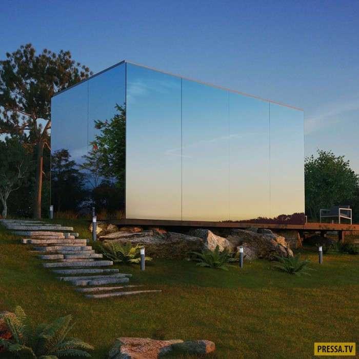 Этот компактный стеклянный домик можно установить где угодно за несколько часов (9 фото)
