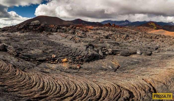 Земля до начала времен, так выглядят лавовые поля Камчатки (21 фото)