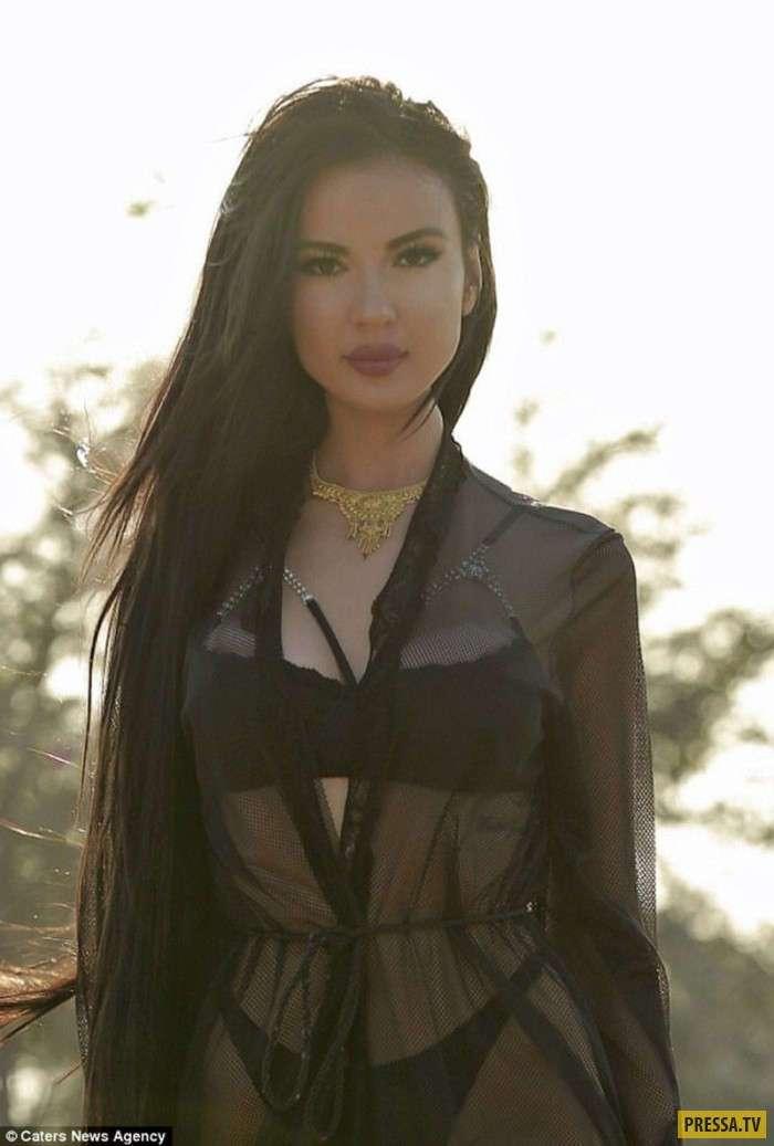 24-летняя модель из Бразилии Дженнифер Памплона захотела стать круче Ким Кардашьян (8 фото)