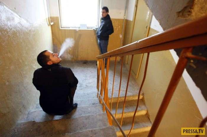 Отучила соседей курить