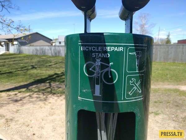 Станция обслуживания велосипедов в Эстонии (4 фото)