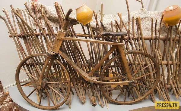 В Беларуси начали производить деревянные велосипеды (4 фото)