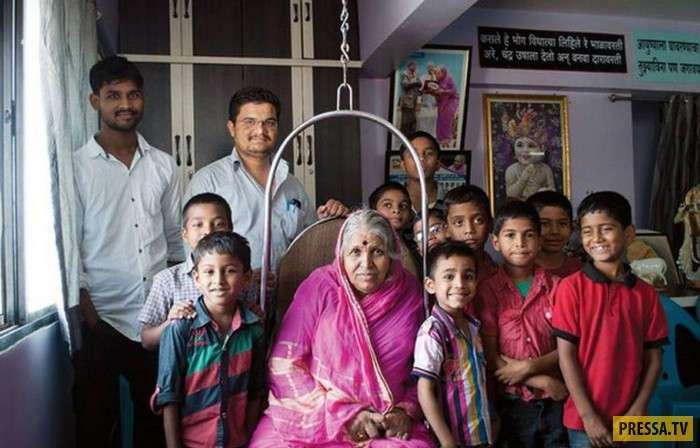 Sindhutai Sapkal - -Мать сирот-, вырастила 1400 брошенных детей (7 фото)