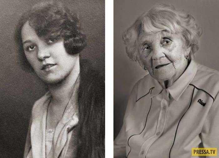 Как выглядели долгожители в молодости (13 фото)