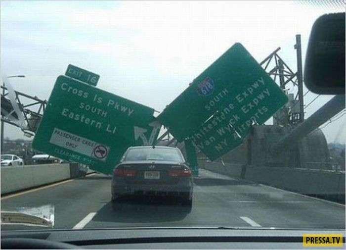 Труднообъяснимые и странные ДТП из-за границы (42 фото)