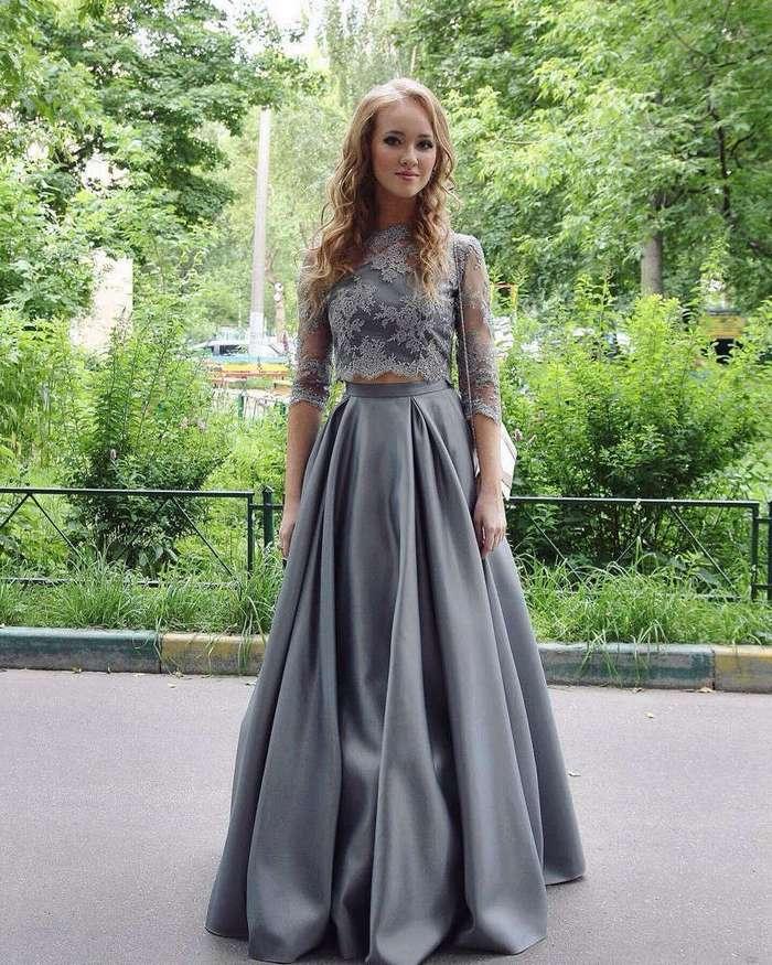 Платье пушистое длинное