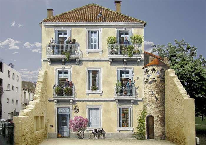 Французский художник преобразовывает безликие фасады в красивейшие стены, полные жизни