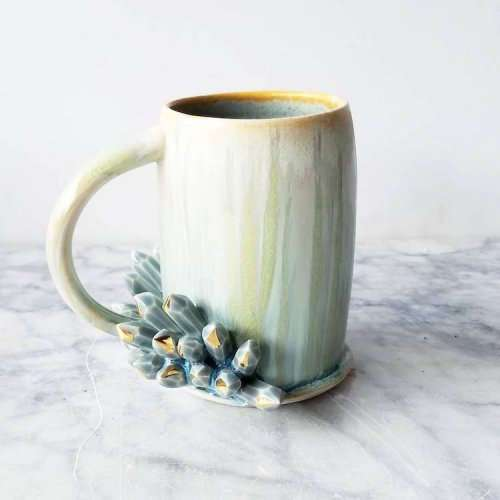 Кружки с кристаллами от Кэти Маркс (10 фото)