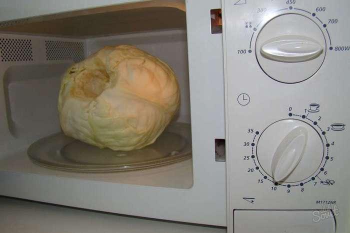 Вот для чего нужно класть капусту в микроволновку. Гениально!