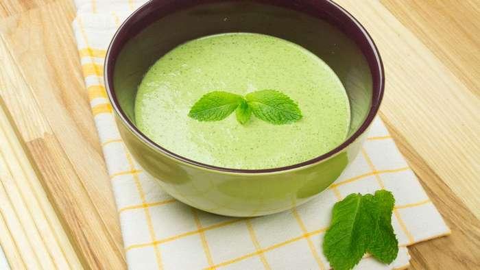 Холодный суп велуте из огурца и мяты. То, что надо в летнюю жару!