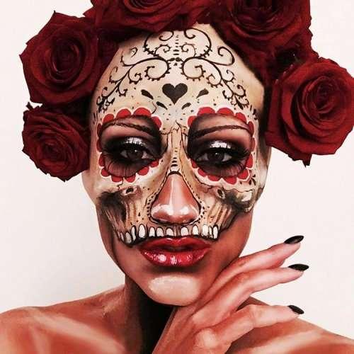 Талантливая визажистка превращает своё лицо в великолепные калаверы (6 фото)