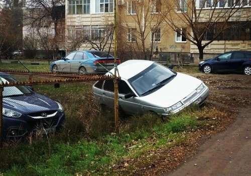 Гении парковки (14 фото)