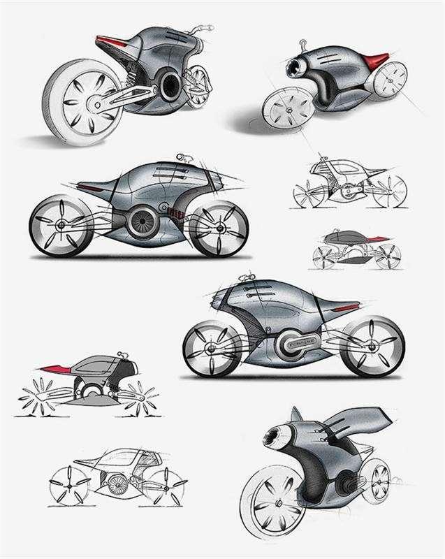 Электрический мотоцикл Porsche 618 (8 фото)