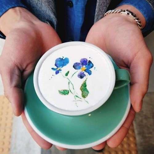 Художественный латте-арт от Канбина Ли (28 фото)