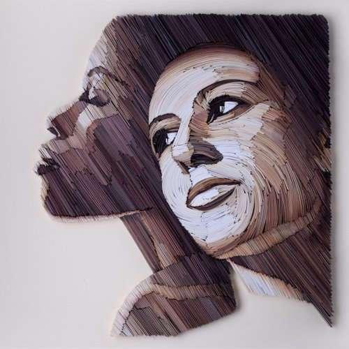Красочные бумажные портреты от Юлии Бродской (10 фото)