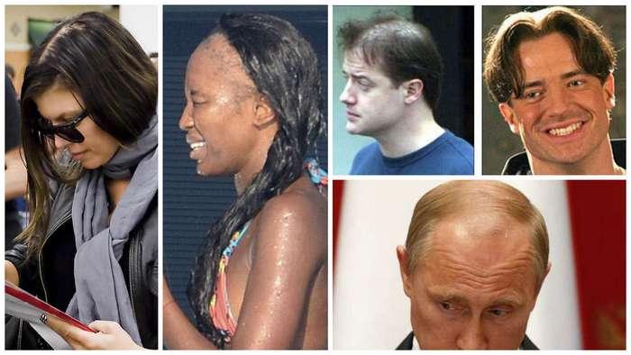 Плешивые знаменитости скрывают, как умеют, но лысина не дремлет (24 фото)